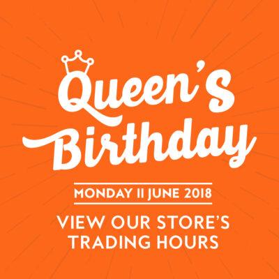 Queens Birthday Opening Hours