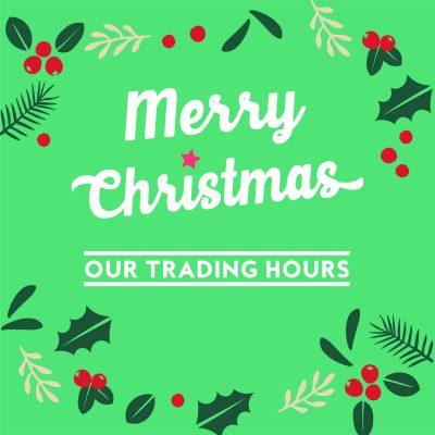 Festive Trading Hours 2020